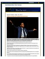 Grads@Rochester: Special Edition: Douglas Lowry Steps Down as Eastman Dean amid Honors (September 23, 2013)