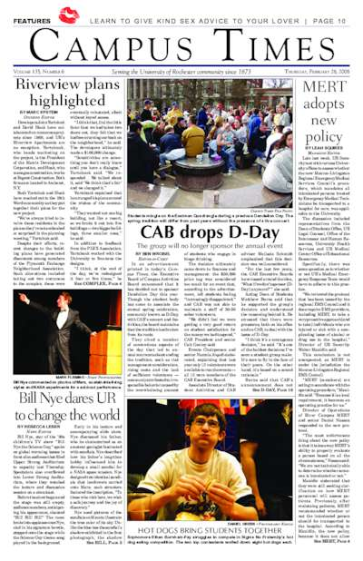 Campus Times (February 28, 2008)