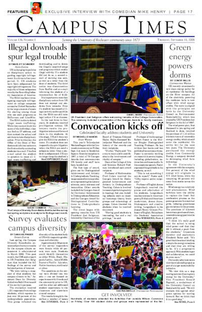 Campus Times (September 11, 2008)