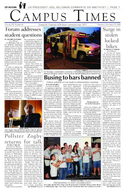 Campus Times (September 25, 2008)