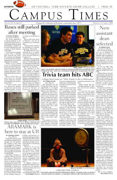 Campus Times (October 02, 2008)