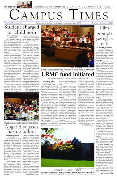 Campus Times (October 16, 2008)
