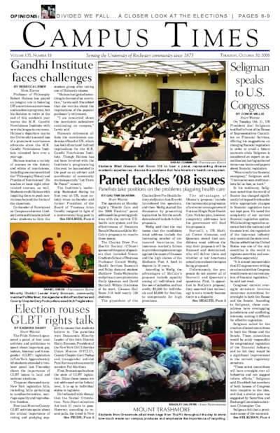 Campus Times (October 30, 2008)