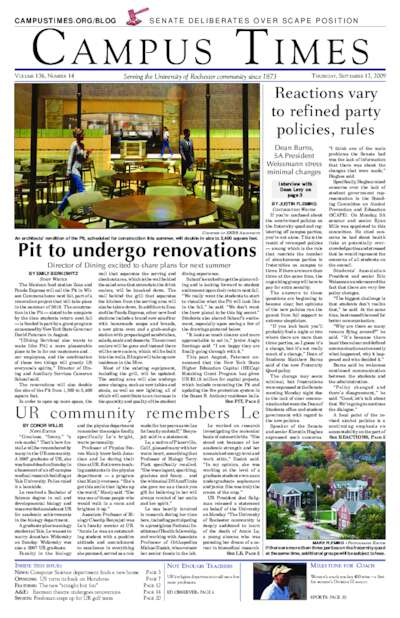 Campus Times (September 17, 2009)