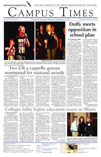 Campus Times (February 11, 2010)