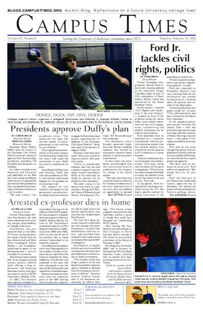 Campus Times (February 25, 2010)