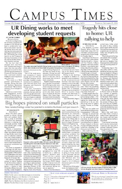 Campus Times (September 15, 2011)