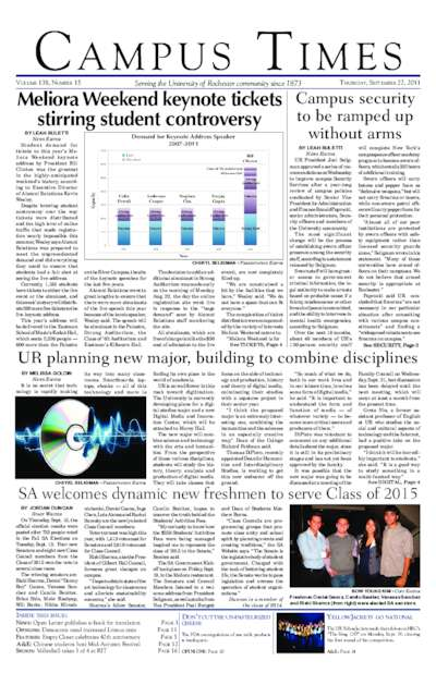 Campus Times (September 22, 2011)