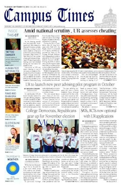 Campus Times (September 13, 2012)