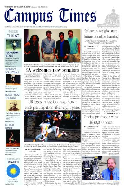 Campus Times (September 20, 2012)