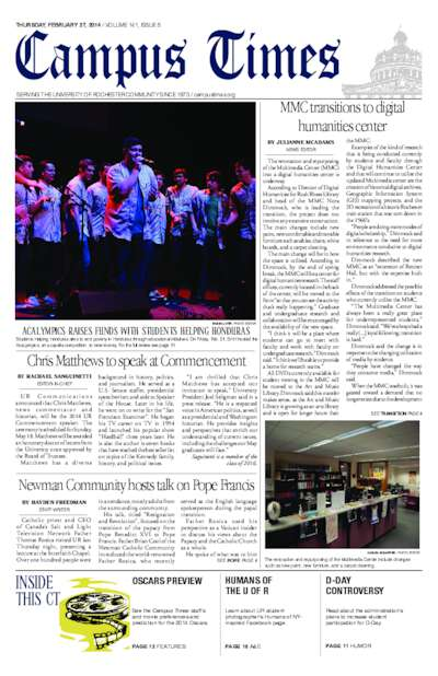 Campus Times (February 27, 2014)