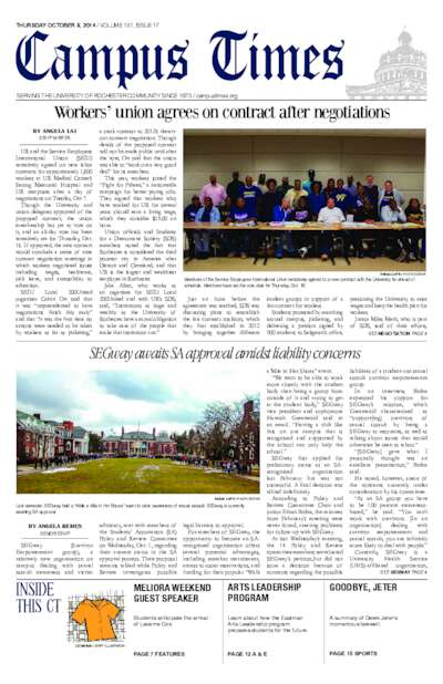 Campus Times (October 09, 2014)