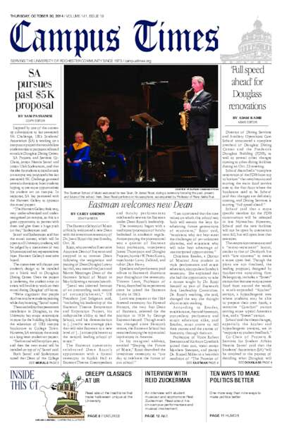 Campus Times (October 30, 2014)
