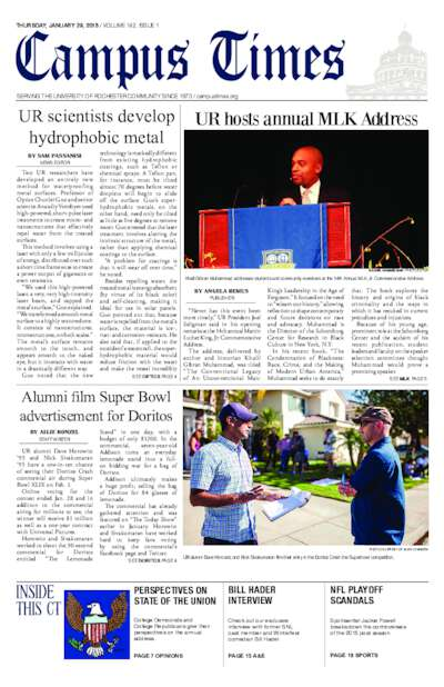 Campus Times (January 29, 2015)