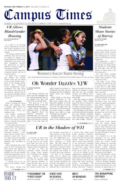 Campus Times (September 11, 2017)