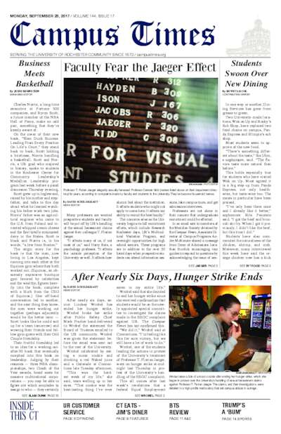 Campus Times (September 25, 2017)