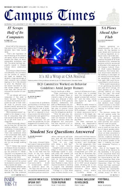 Campus Times (October 2, 2017)