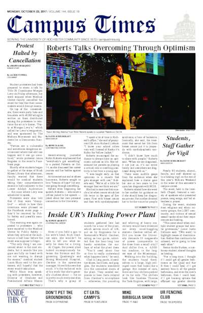 Campus Times (October 23, 2017)