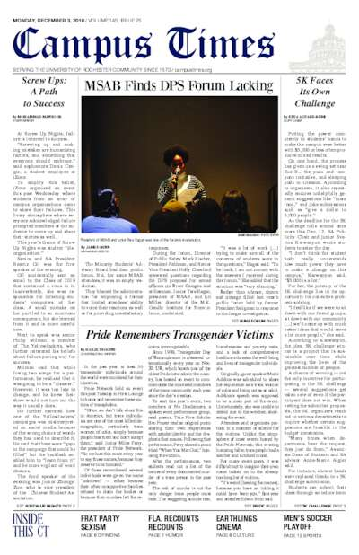 Campus Times (December 3, 2018)