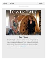 Tower talk (August, 2019)