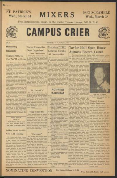 Campus Crier (March 07, 1956)