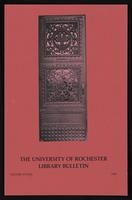 University of Rochester Library Bulletin, v. 38