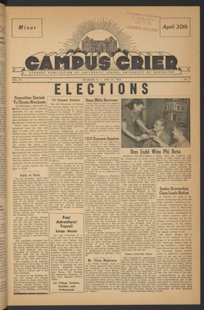 Campus Crier (April 23, 1953)