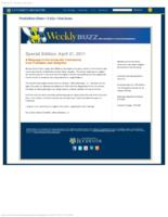 Weekly Buzz (April 21, 2011) Special Edition: A Message from President Seligman
