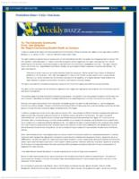 Weekly Buzz (July 27, 2011) Special Edition: President Seligman Releases Report on Student Death