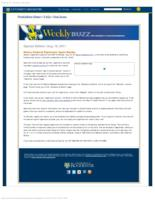 Weekly Buzz (August 19, 2011) Special Edition: Meliora Weekend Registration Opens August 22