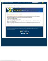 Weekly Buzz (January 18, 2012) Special Edition: President Seligman Gives Midyear Report