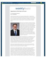 Weekly Buzz: Special Edition: New Provost Appointed (October 15, 2015)