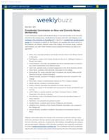 Weekly Buzz: Special Edition: Presidential Commission on Race and Diversity Names Membership (December 3, 2015)