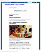 Weekly Buzz (March 9, 2014)