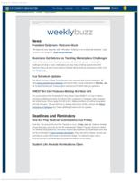 Weekly Buzz (January 11, 2015)