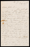 p.1 Signed letter from Booth to Russell, 1868