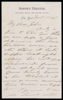 p.1 Signed letter from Booth to Russell, 1871