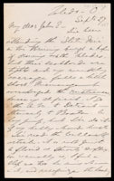 Signed letter from Booth to Russell, 1867