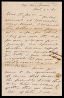 Unsigned letter from Booth to Russell, 1881