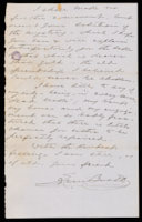 p.4 Signed letter from Booth to Russell, 1875