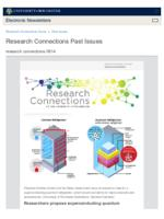 Research Connections (June 14, 2019)