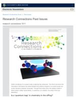 Research Connections (October 11, 2019)