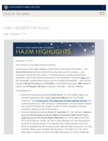 Hajim Highlights (December 16, 2019)