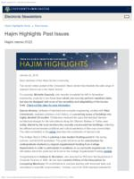 Hajim Highlights (January 22, 2018)