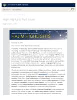 Hajim Highlights (February 12, 2018)