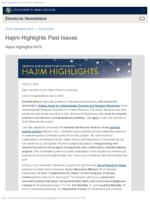 Hajim Highlights (April 15, 2019)
