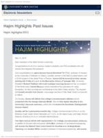 Hajim Highlights (May 13, 2019)