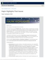 Hajim Highlights (May 28, 2019)