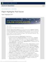 Hajim Highlights (July 1, 2019)