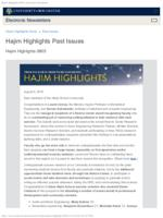 Hajim Highlights (August 5, 2019)